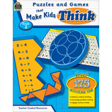 Puzzles and Games that Make Kids Think Grade 2