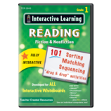 Interactive Learning: Reading Fiction & Nonfiction Grade 1