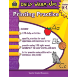 Daily Warm-Ups: Printing Practice Grades K-1