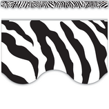 Zebra Scalloped Border Trim