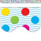 Multicolor Polka Dots Scalloped Border Trim
