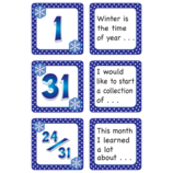 January Polka Dots Calendar Days/Story Starters