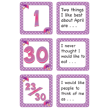 April Polka Dots Calendar Days/Story Starters