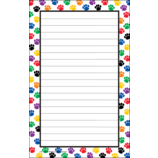 Colorful Paw Prints Notepad