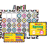 Fancy Circles Calendar Bulletin Board Display Set