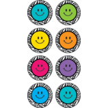 Zebra Happy Faces Mini Stickers
