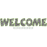 Zebra WELCOME Bulletin Board Display Set