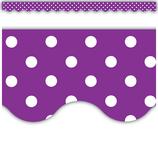 Purple Mini Polka Dots Scalloped Border Trim