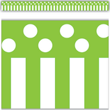Lime Stripes and Polka Dots Straight Border Trim