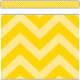 Yellow Chevron Straight Border Trim