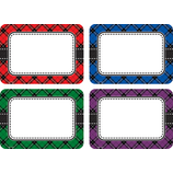 Plaid Name Tags/Labels Multi-Pack