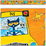 Pete the Cat School is Cool Border Trim