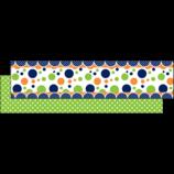 Lime Navy Dot Ribbon Runner