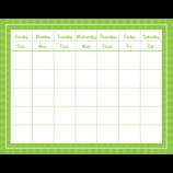Green Sassy Solids Calendar Grid