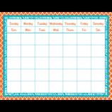 Orange and Teal Wild Moroccan Calendar Grid