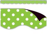 Lime Polka Dots Magnetic Borders