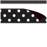 Black Polka Dots Magnetic Strips