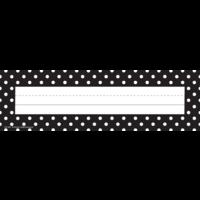 Black Polka Dots Name Plates (flat)