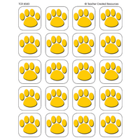 Gold Paw Prints Stickers