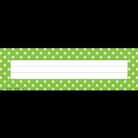 Lime Polka Dots Flat Name Plates