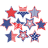 Patriotic Fancy Stars Accents
