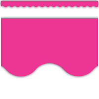 Hot Pink Scalloped Border Trim