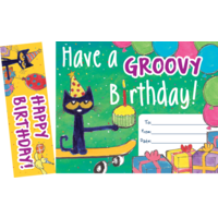 Pete the Cat Groovy Birthday Bookmark Award