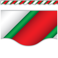Candy Cane Scalloped Border Trim