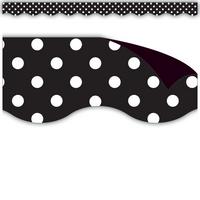 Black Polka Dots Magnetic Borders