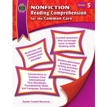 TCR3826 Nonfiction Reading Comprehension for the Common Core Grade 5