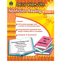TCR5033 Daily Warm-Ups: Nonfiction Reading Grade 3