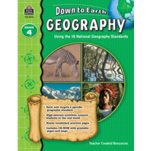 TCR9274 Down to Earth Geography, Grade 4