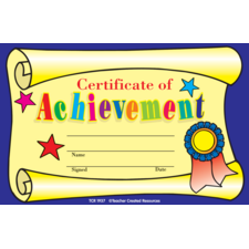 Certificate of Achievement Awards
