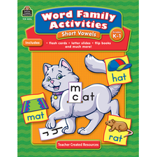 Word Family Activities: Short Vowels Grade K-1