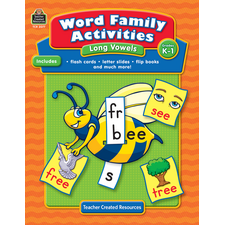 Word Family Activities: Long Vowels Grade K-1