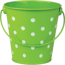 Lime Polka Dots Bucket