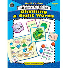 Full-Color Literacy Activities: Rhyming & Sight Words