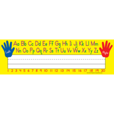 Left/Right Alphabet Name Plates (flat)