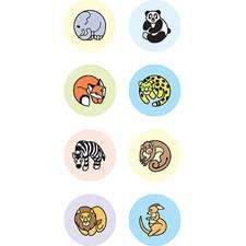 Zoo Animals Mini Stickers