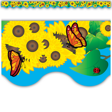 Sunflowers Scalloped Border Trim