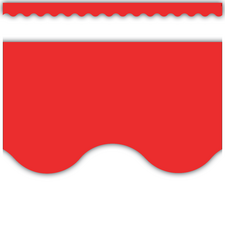 Red Scalloped Border Trim