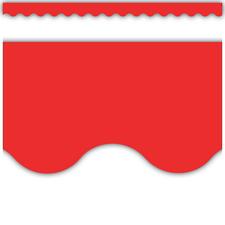 Red Scalloped Border Trim