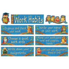 Wise Work Habits Mini Bulletin Board from Susan Winget