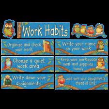 Wise Work Habits Mini Bulletin Board from Susan Winget