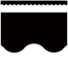 Black Scalloped Border Trim