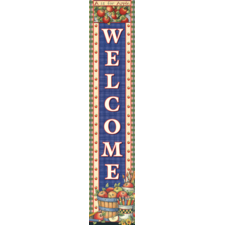 Apples Welcome Vertical Banner from Susan Winget