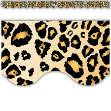 Leopard Scalloped Border Trim