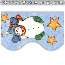 Snowmen Scalloped Border Trim from Susan Winget