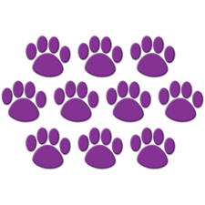 Purple Paw Prints Accents