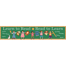 Learn to Read/Read to Learn Banner from Susan Winget